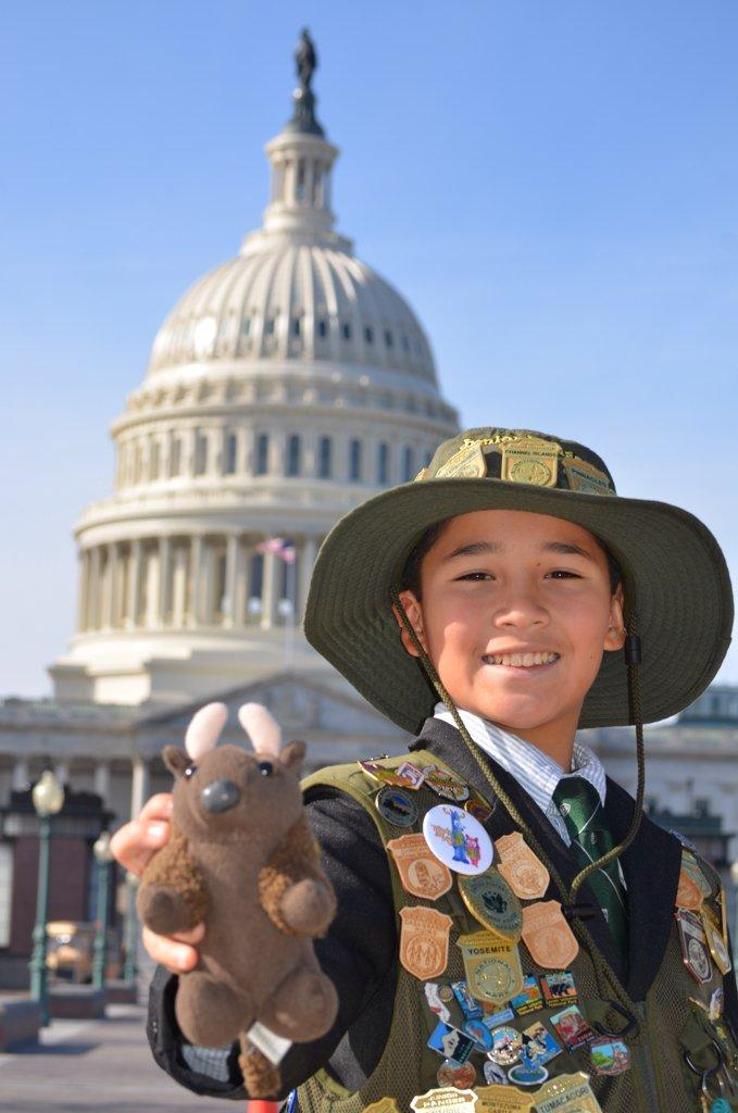 Junior Ranger Tigran Nahabedian visited the White House, met the Director of the National Park Service, and has appeared in national news stories and commercials because of his advocacy for our National Parks
