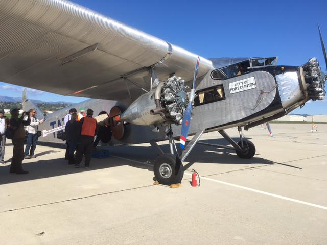 A historic Ford Tri-Motor, built in 1928, is visiting Ventura County.