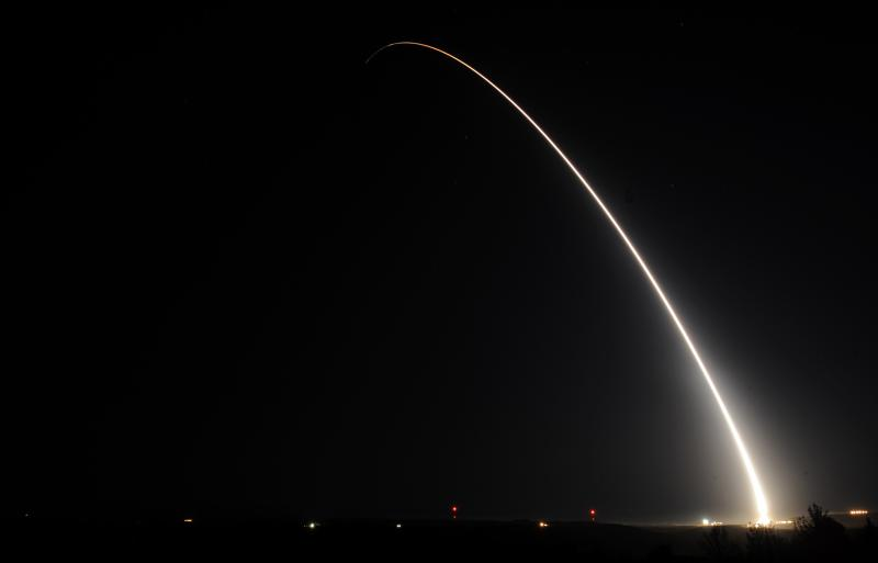 ICBM test launched from Vandenberg Air Force Base