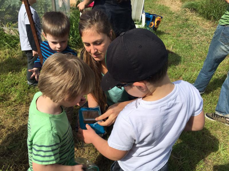 These young kids find bugs during the scavenger hunt