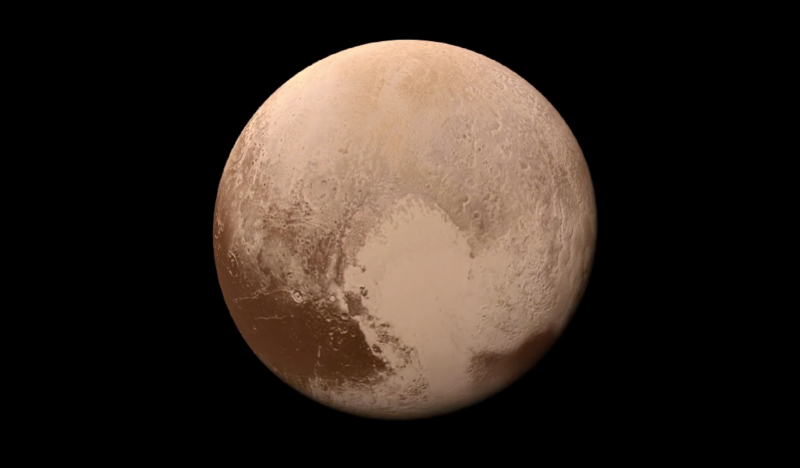 Image of Pluto taken during flyby of New Horizons spacecraft