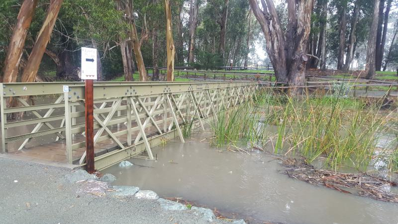 Flooding at North Beach Campground at Pismo State Beach on January 4th when the park temporarily closed