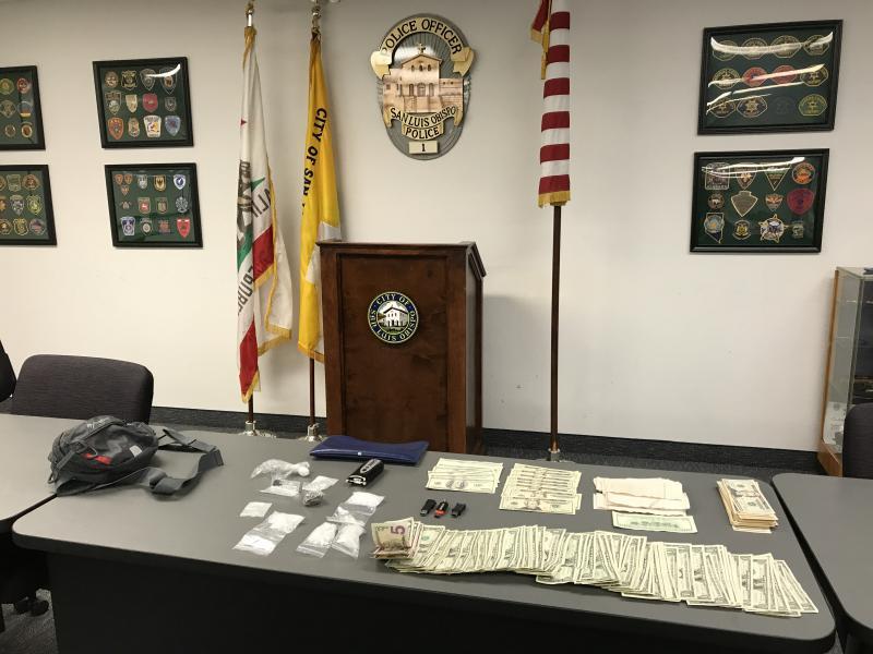 San luis Obispo Police Display Counterfeit Money Seized From Car