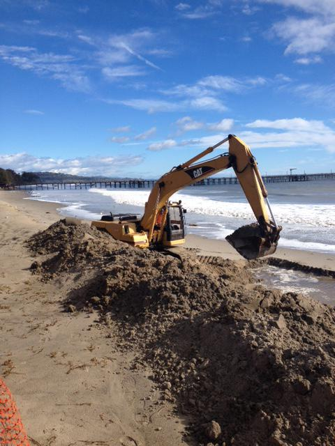 Past erosion control efforts at Goleta Beach