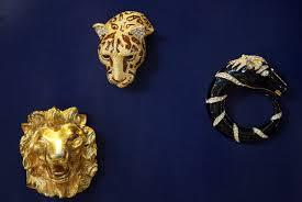 More than 200 pins at brooches from Albright's collection are part of the display
