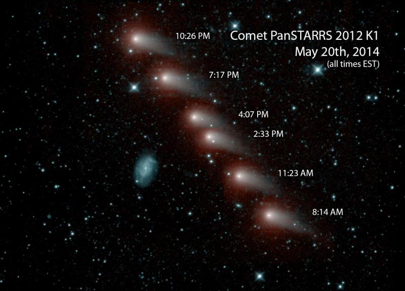 NEOWISE captured this image of a comet as it swept across the skies