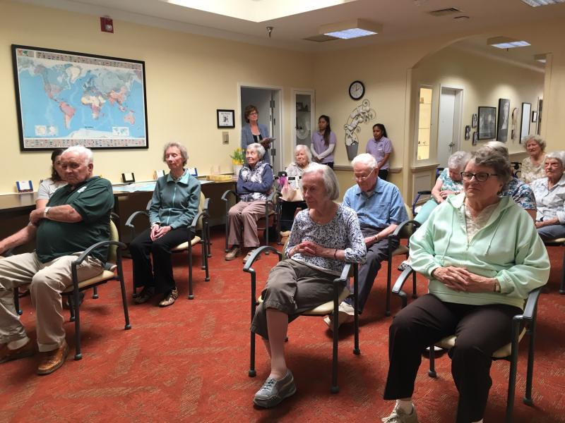 Elderly dementia patients listen to a live classical performance as part of a study that looks at the therapeutic benefits of live classical music.