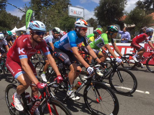 Amgen Tour of California riders leave Santa Barbara for Stage Four of the 2017 Tour, which passed through Montecito, Carpinteria, Ojai and Santa Paula before ending in Santa Clarita Wednesday