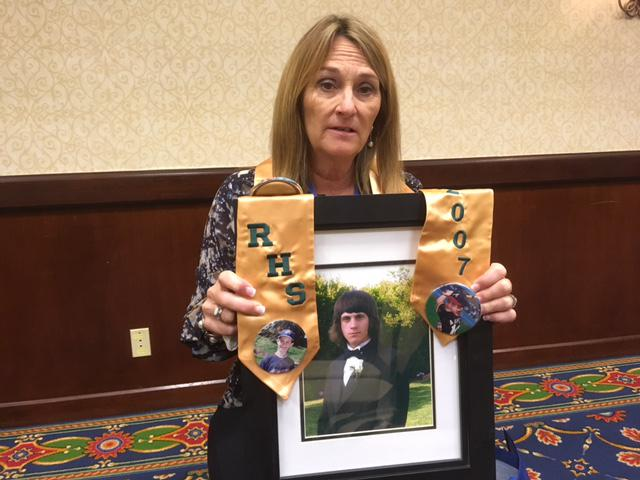 Susan Klimusko of Simi Valley lost her son, Austin, to a drug overdose, and is now active in efforts to control opiod abuse in Ventura County