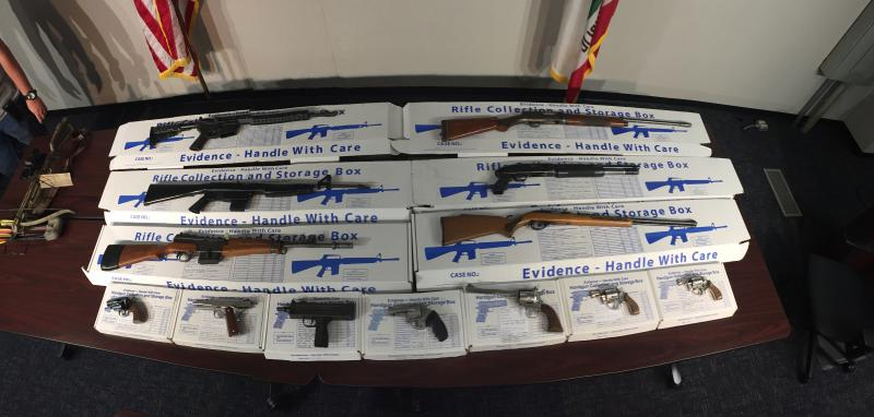A gang sweep on the South Coast led to 10 arrests, and the seizure of more than a dozen weapons