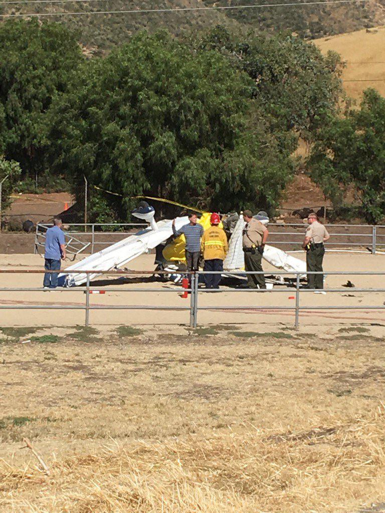 Two men died in a light plane crash in the eastern Santa Rosa Valley Sunday afternoon