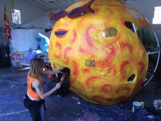 The 2017 Santa Barbara Summer Solstice parade will feature a wide mix of floats and costumes, including this giant sun