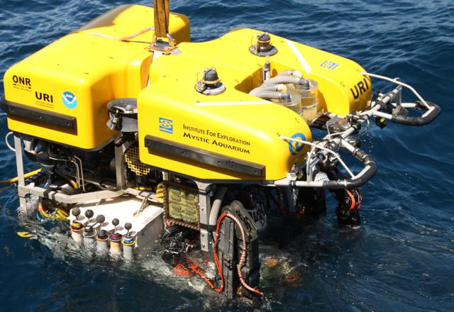 The Hercules is the promary ROV underwater craft used by the Nautilus crew