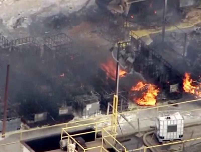 November,  2014 explosion and fire at Santa Clara Waste Water facility near Santa Paula