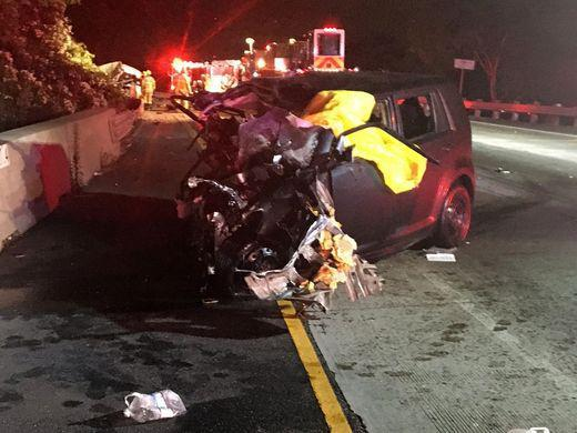 Head-on crash leaves three dead on Highway 101 in Ventura County