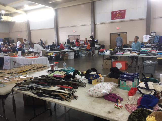The Stand Down event featured a maketplace for veterans to pick up personal items, as well as services like haircuts and medical checkups