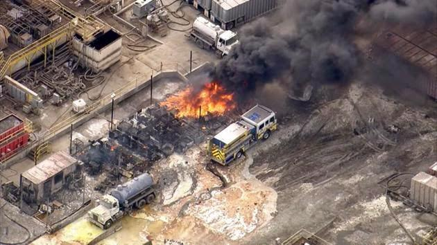 18 people were hurt in after a blast, and toxic chemical cloud hit a wastewater treatment facility in Ventura County