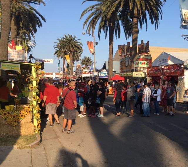 The Ventura County Fair features dozens of food booths, with fried and breaded items popular (and toss on some bacon, and you always have a hit!)