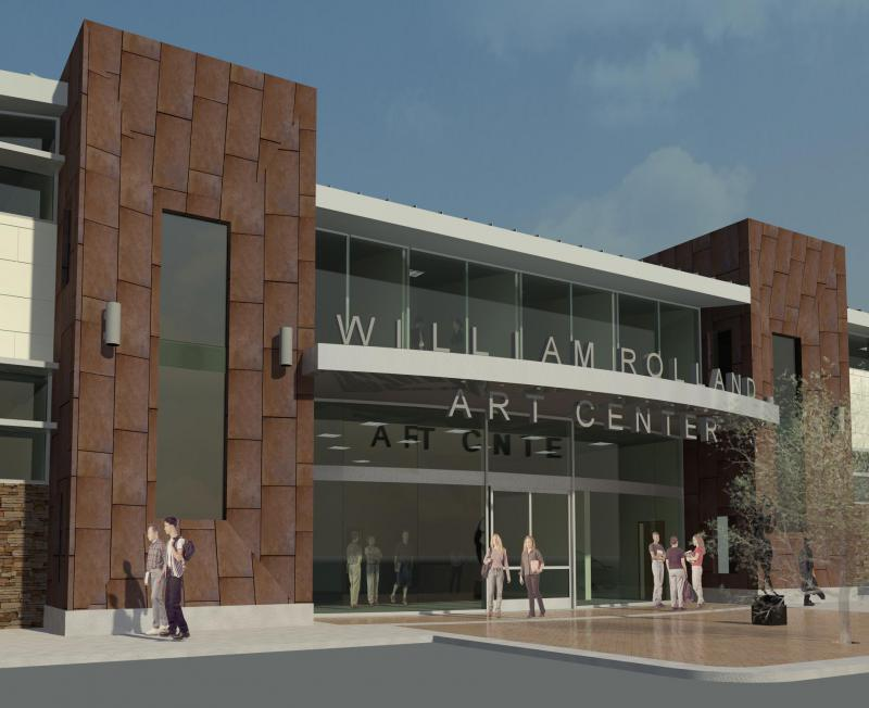Artist's rendering of new CLU Art Center opening in 2017