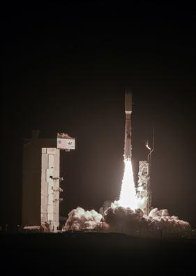 A United Launch Alliance Atlas V launches from Vandenberg Air Force Base