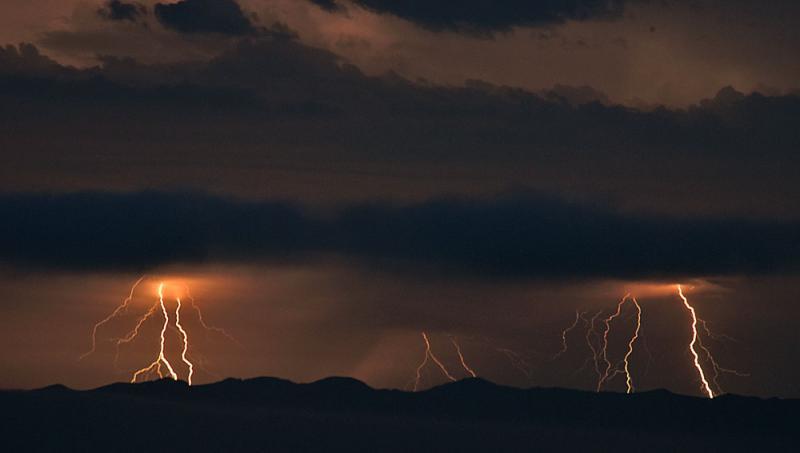 Lightning from a thunderstorm triggered a blaze on Santa Cruz Island Monday