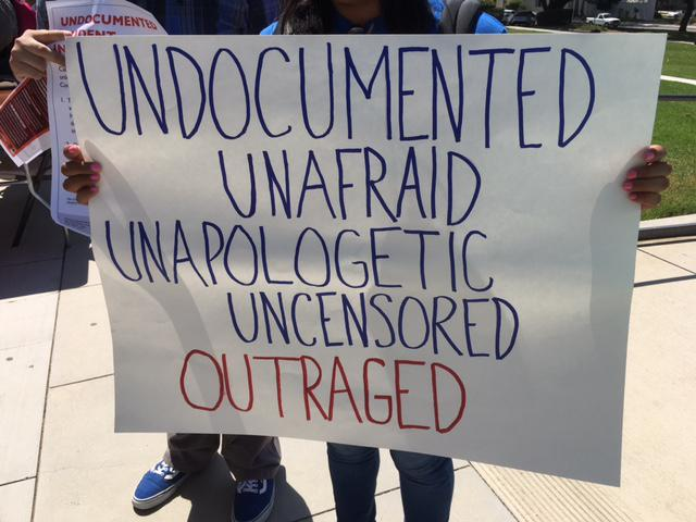 Demonstrators at CSUCI had messages of outrage, and sadness over the President's DACA action