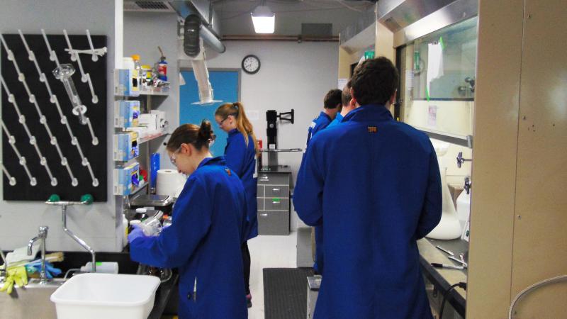 Inside one of Apeel's onsite labs