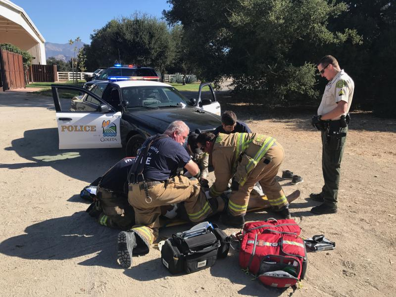 Los Angles man treated for injuries after leading officers on wild car chase in Santa Barbara County