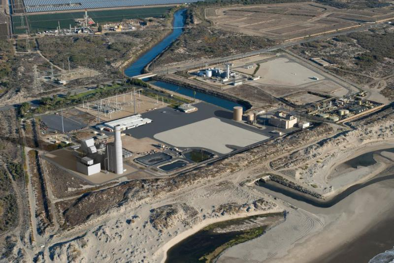 Artist's illustration of Puente Power Plant if project is approved at Mandalay Beach