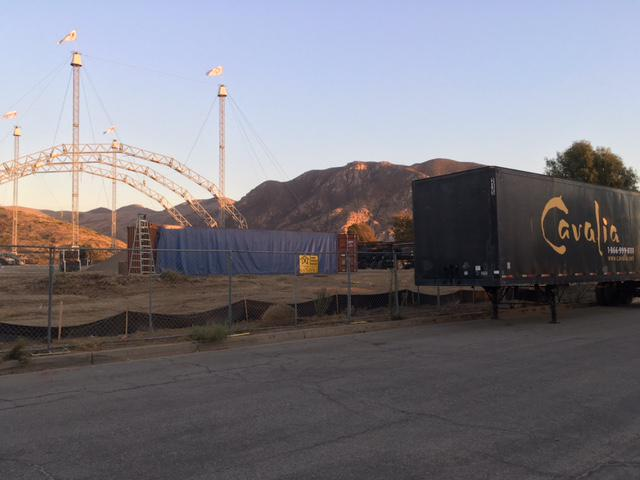 Massive tent for Cirque Du Soleil going up in Camarillo, but creating mystery for thousands of commuters daily