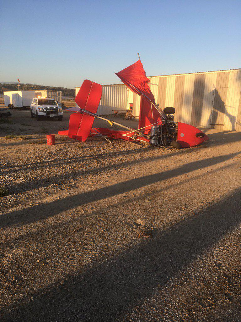 An ultralight plane crash left one person hurt at Camarillo Airport