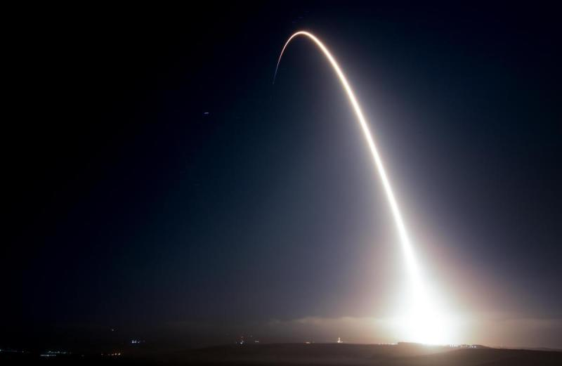 A SpaceX Falcon 9 rocket carries 10 communications satellites into orbit from Vandenberg Air Force Base Monday