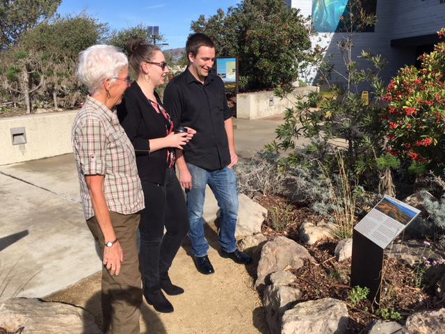 Part of the team which worked on the demonstration garden at the Channel Islands National Park headquarters at Ventura Harbor
