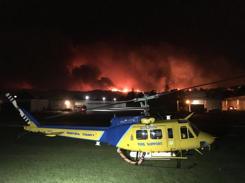 High wind grounded firefighting helicopters deployed to help fight Thomas fire