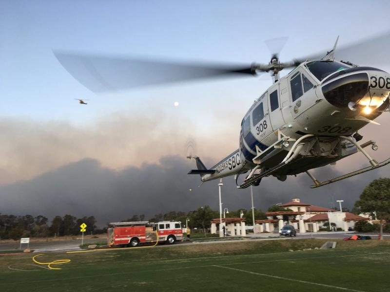 Helicopter helps fight the Thomas brush fire