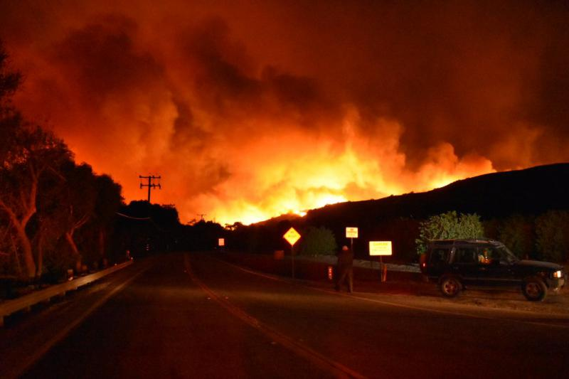 Mandatory evacuation order are in effect for area north of Foothill Road, in Eastern Ventura