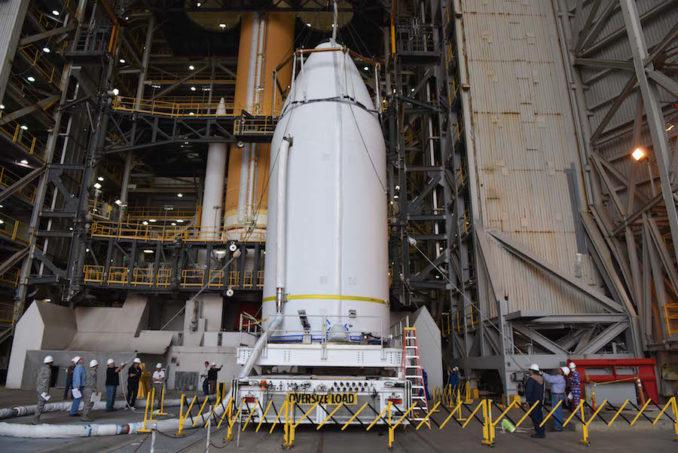 The payload for Wednesday's planned launch at VAFB is being prepared