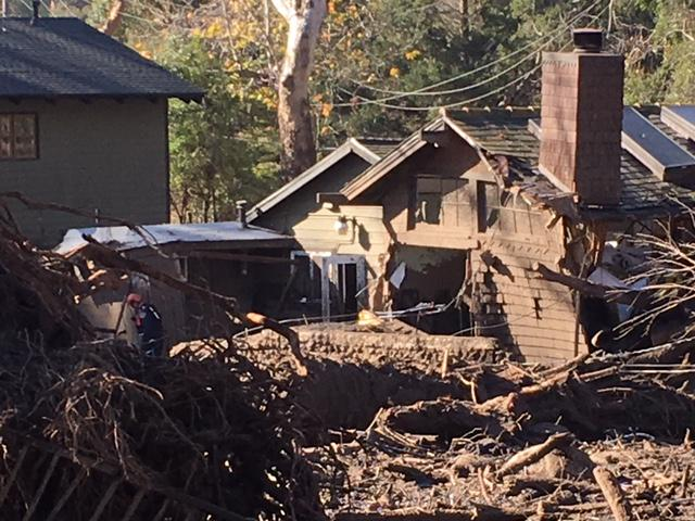 One of the more than 400 homes destroyed or damaged by flooding in Santa Barbara County Tuesday