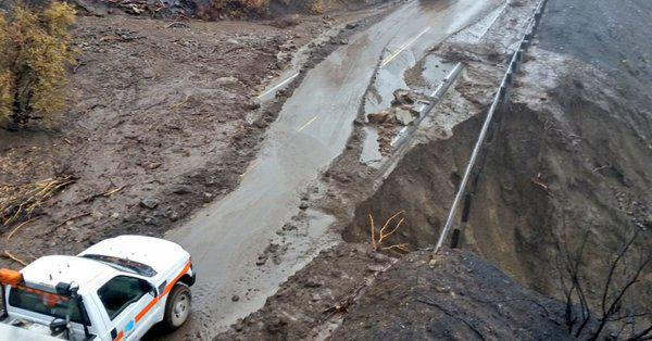 Section of Highway 33 north of Ojai closed by January 9th storm
