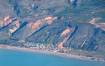 Aerial view of January 10th, 2005 La Conchita slide