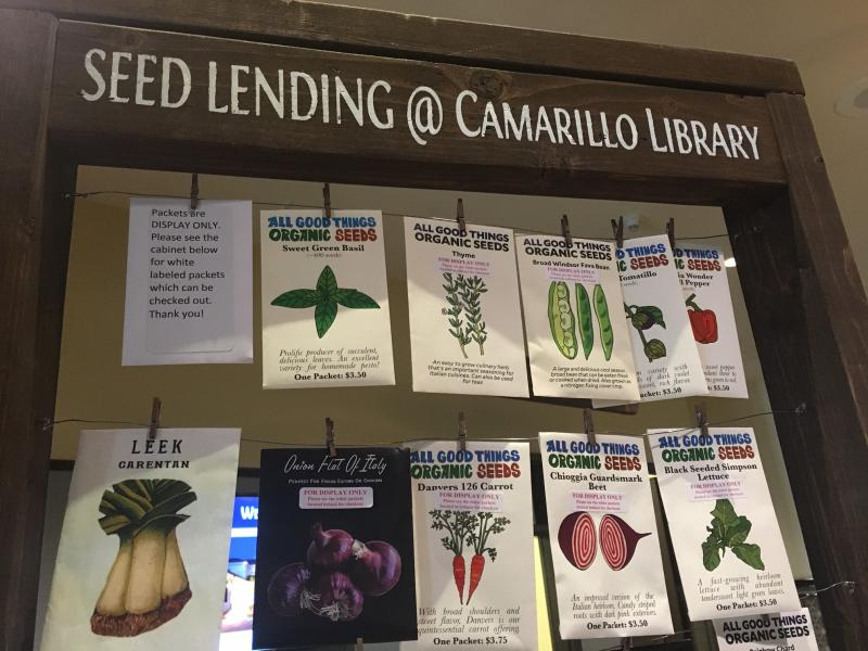 Some of the seeds offered at Camarillo Seed Lending Library