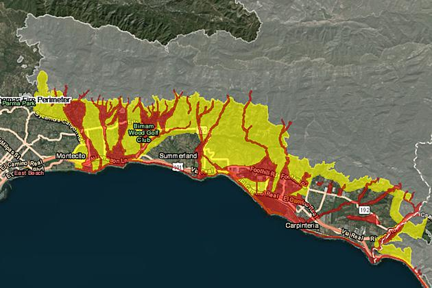 Santa Barbara County has unveiled a new interactive map which allows people to better asses the dangers they may face from future storms