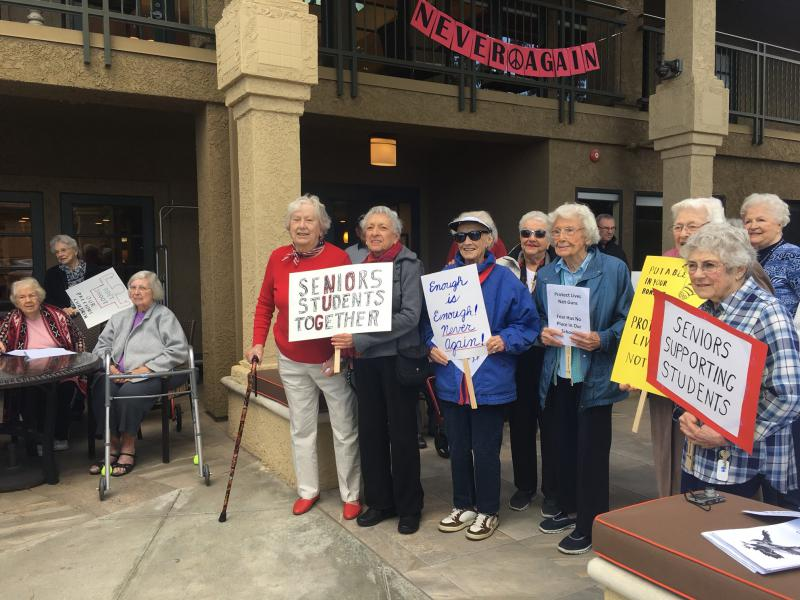 "March for our Lives ""Sitting March"" at senior living facility in Thousand Oaks"