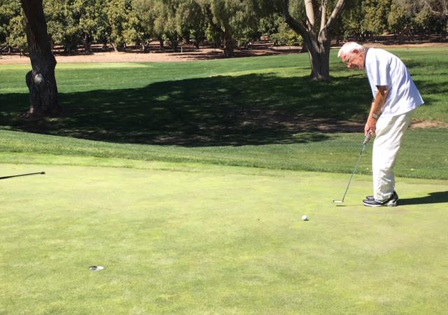 Bob Roth works on his 10,000 round of golf at the Saticoy Country Club