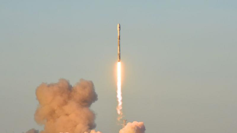 A SpaceX Falcon 9 rocket successfully lifted off from Vandenberg Air Force Base Friday morning, with a payloat of 10 communication satellites