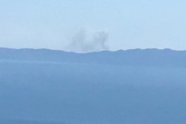 Fire burning on Santa Cruz Island Tuesday afternoon