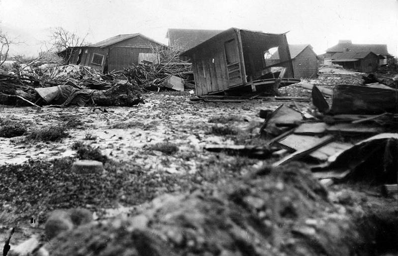 Some of the damage caused by the 1928 St. Francis Dam collapse