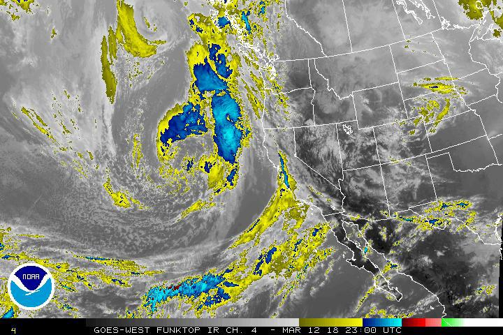 Satellite images show storm moving in on West Coast