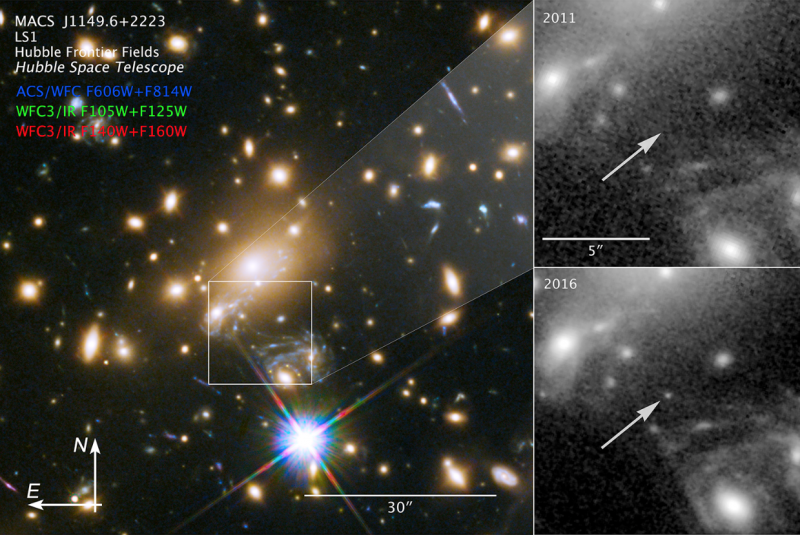 Images of the farthest individual star ever discovered