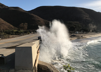Sycamore Cove during a king tide event, Dec. 2017